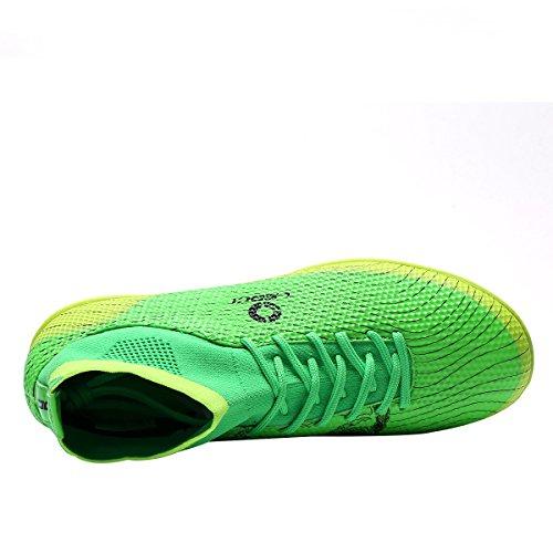 Ben Sports Unisex TF AG FG Fußball-Trainingsschuhe Fußballschuhe Football Schuhe der Herren Jungen,33-45 TF-Grün