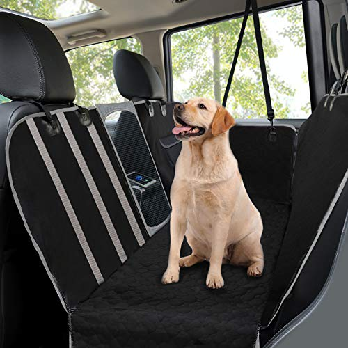 Coprisedili per cani auto,accessori cane auto,amaca coprisedile impermeabile per animali domestici, protezione del sedile posteriore per tutte le automobili e suv, universale,145cmx136cm black