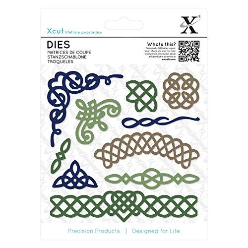 Xcut Alphabet-Dies/Alice Distanzhülse/Schnitt-Detail-Schablone, Metall, Schwarz, 0.47 x 13.81 x 18.67 cm (Schnitt-schablonen Die)