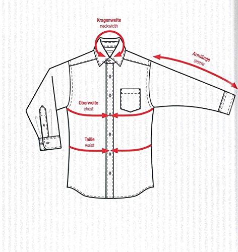 Redmond - Bügelfreies Herren Langarm Hemd in verschiedenen Farben, Stil: Regular Fit (150100) Weiß(0)