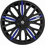 ASD TECH SP 1450L Pack de 4 Enjoliveurs Design Sparco Leggera 14'' Noir/Bleu