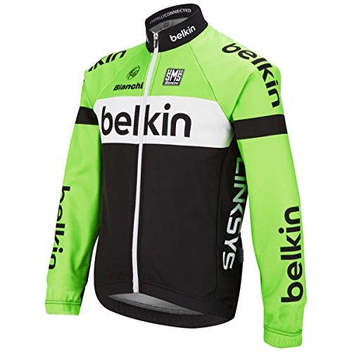 Santini Replica Men's Belkin Breezewall Veste technique coupe-vent vert - Noir/Vert
