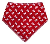 "Spoilt Rotten Pets Branded (S3) Red Mini Skull Dog Bandana Adjustable Neck to Fit Large to Extra/Large Dogs - Neck Size 23"" - 28"" Generally Fits Chow Chow, German Shepherd, St Bernard, Dogue de Bordeaux and Similar Sized Dogs."