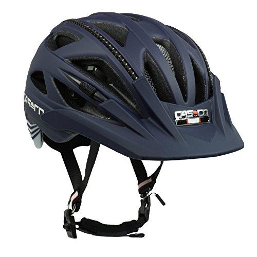 Fahrradhelm Radhelm Casco Activ 2, marine-weiß - Biese schwarz, Gr. S (52-56 cm) (Marine-blau-gurt)