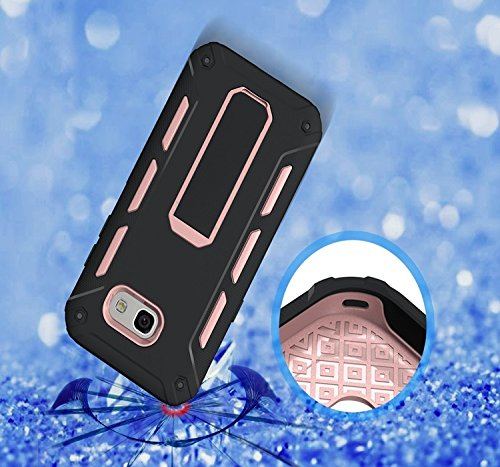 YHUISEN Galaxy A5 2017 Case, Cool Shockproof Rüstung Hybrid 2 In1 TPU und PC Rugged Dual Layer Mit Kickstand Fall für Samsung Galaxy A5 2017 A520 ( Color : White ) Rose Gold