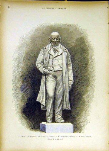 Statue Beranger-Tempel-Quadrat Doublemard Yvon 1885