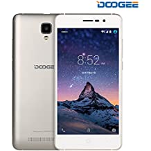 "Moviles Libre, DOOGEE X10 Moviles Libres Baratos, Android 6.0, 5""HD, Procesador Dual Core MT6570, Dual SIM 3G Smartphone, Bluetooth 4.0, 5.0MP Cámara con Flash, 8GB ROM, Bateria con 3360mAh - Oro"