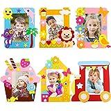Yuccer Kit dai da Te Creativo Bambini, 6 PCS Cornici per Foto Fai da Te Creativo Kit Lavoretti per Bambini Kit Lavoretti per Bambini
