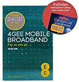 EE 4G 24GB UK PAYG Trio Data SIM - Mobile Broadband -24GB + FREE International Calling Card - (RETAIL PACK)