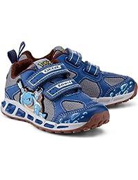Geox C4054 Navy Yellow Scarpa Bambino Sneakers J8294C a43e2df2b02
