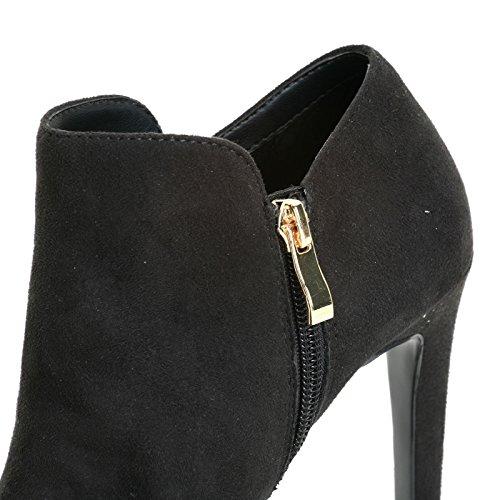 ESTRADÀ by Scarpe&Scarpe - Stivaletti alti con accessorio gioiello, con Tacco 10 cm Nero