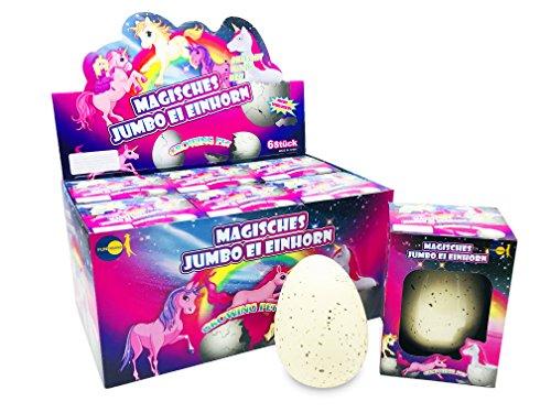 JustRean Toys XXL Einhorn Schlüpf Ei  11cm - Magic Growing Egg Unicorn Schlüpfei Einhörner <3