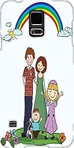 Snoogg Cartoon Family Background Vector Illustration Designer Protective Back...