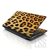 Correas 15 39,62 cm ordenador portátil Skin para diseño compatible con 33,78 cm 35,56 cm 39,62 cm 40,64 cm HP Dell Lenovo Apple Asus Acer Compaq (incluye 2 reposamuñecas de incluido) diseño de estampado de leopardo