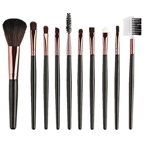URSING 10 pcs maquillage cosmétique pinceau fard à joues fard à paupières pinceaux ensemble nouveau 2018 Pinceaux Maquillage Makeup brushes set Maquillage Outils Brush Set Maquillage Trousse De Toilette Laine Maquillage Brush Set cosmétiques pinceau de maquillage pinceau de maquillage Eyeshadow Brush (Comme montré, Café)