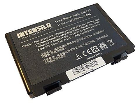 INTENSILO Li-Ion Akku 6000mAh (10.8V) für Notebook Laptop Asus X5dab, X5dab-sx070c, X5dab-sx070v, X5dad, wie A32-F82, A32-F52, L0690L6.