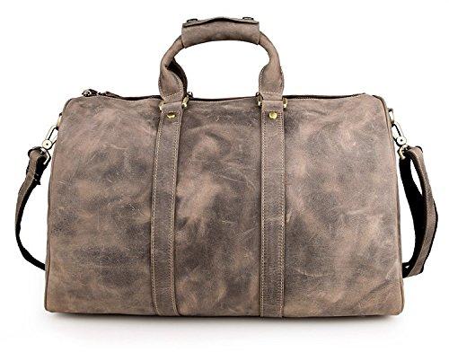 YAAGLE Echtes Leder Retrotasche Herren Taschen erstklassig Reisetasche Handtasche Schultertasche Kuriertasche-brown vintage brown