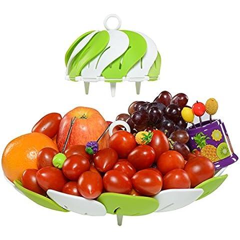 PREMIUM–Bandeja de fruta plato y Candy es la mejor/Plato y Cuenco, incluye 6tenedores de acero inoxidable, Awesome Frutas cesta para fiestas, bodas, mamás, Oficina, prueba de roturas