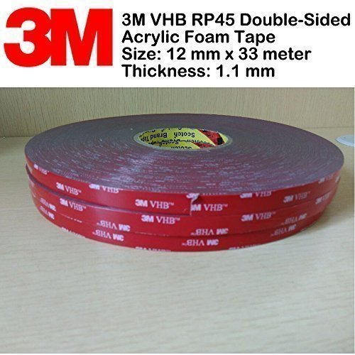 3-M-VHB-rp45-Double-face-acrylique-Ruban-mousse-12-mm-x-33-m-paisseur-11-mm
