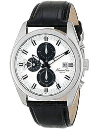 Kenneth Cole Homme 44mm Chronographe Noir Cuir Bracelet Date Montre KC8041