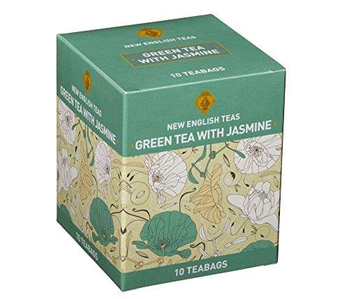 10Bolsitas Te 'Inglés Verde con Jazmín Jasmine Green Tea with new english Teas
