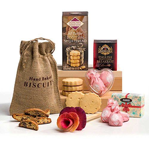 Hearts & Flowers Springtime Chocolate Hamper Gift for Her
