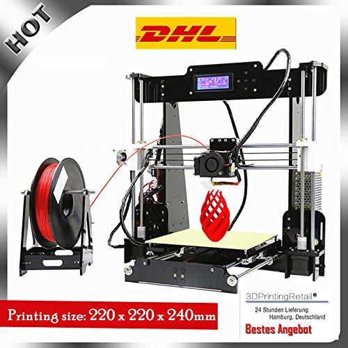 Impresora 3D Abcs Printing A8 Acrilico Prusa I3 Pro B Kit, DIY Impresoras 3D series , CNC,Apoyo la diversidad de material Tamaño de Impresión Grande 2