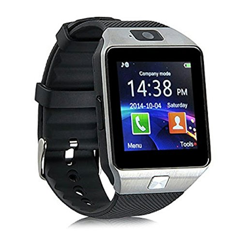 HealthMax HT DZ09 Silver Smartwatch Compatible With Micromax Canvas Play Mobiles