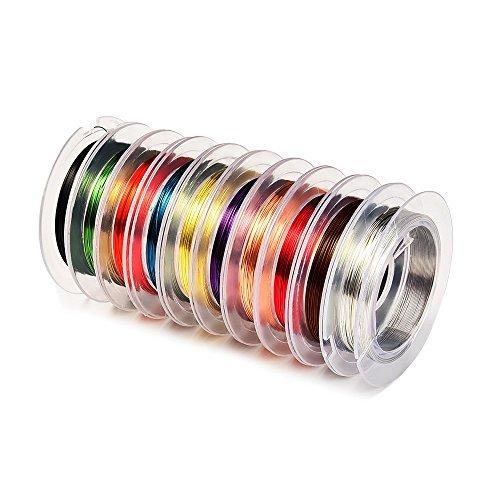 10 Stück, 0.3 mm Schmuckdraht Schmuck Kupferdraht, Mischfarben