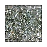 500g Glasnuggets Glassteine Muggelsteine Mosaiksteine Tischdeko 12 - 20 mm Klar