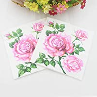 TOPofly Napkin beauty printed fabric decoration property 20pcs paper napkins for 33cm * 33cm & Party event