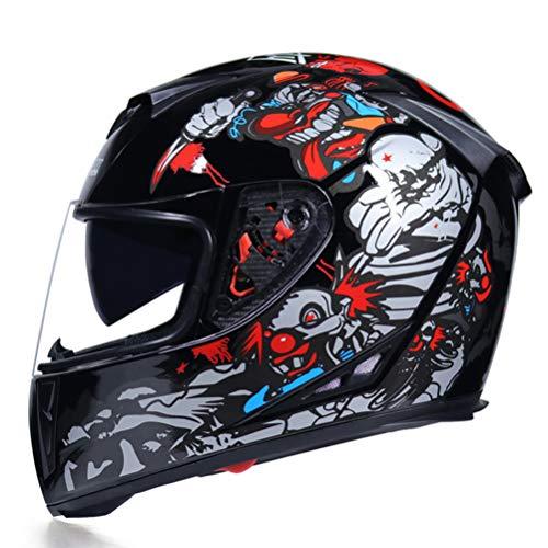 Casco moto integrale Casco moto in fibra di carbonio per tutte le stagioni Usa Moto Casco Double Len Capacet