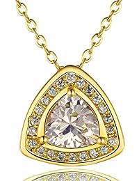 Necklaces Women Classic Geometry Gold Plated Rose Gold Plated Platinum Plated Alloy Zircon 45+5Cm Rolo Chain Pendant...