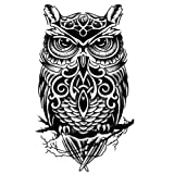 Kühle Eulen-Muster Tattoo Körper Tattoo-Aufkleber wasserdicht temporäre Tattoos