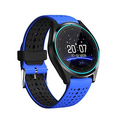 Smartwatch Herren, Miya HD-Vollkreisanzeige mit Kamera Bluetooth Smartwatch Schrittzähler Pulsmesser Micro SIM Karte Armbanduhr Unterstützung Dial Anruf GSM Smart Watch für Android IOS-05 - Hd-rechner