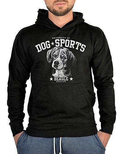 TITAGU Kapuzen-Sweatshirt Hoodie Dog Sports Aufdruck: Beagle - trendiges Hunde Motiv -