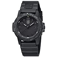 Luminox Leatherback Sea Turtle Giant 0320 series Watch with carbon compound Case Black|Black Dial and PU Black Strap XS.0321.BO