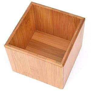 SoBuy/® FRG180-WN Kaffeekapsel Box aus MDF und Bambus Kapselspender Kapselst/änder mit 2 Schubladen Aufbewahrungsbox Schubladenbox Schreibtischorganizer