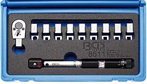 BGS 8511 | Drehmoment-Speichenschlüssel | austauschbare Köpfe | 3 - 15 Nm