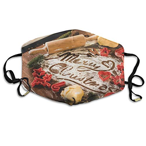 Unisex Fashion Mouth Mund Maske Merry Christmas Food Lettering in Flour