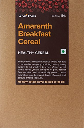 Whole Foods amaranth Breakfast cereal, 150g  available at amazon for Rs.108