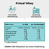 PRIMAL WHEY Protein Neutral - 100% reines Molkeprotein aus irischer Weidehaltung - Low Carb Proteinpulver zur Erhaltung & Zunahme der Muskelmasse - 760g Molke Eiweisspulver Neutral