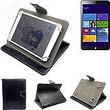 K-S-Trade Schutz Hülle Tablet Case für Kiano Slimtab 8 MS, schwarz. Tablet Hülle mit Standfunktion Ultra Slim Bookstyle Tasche Kunstleder