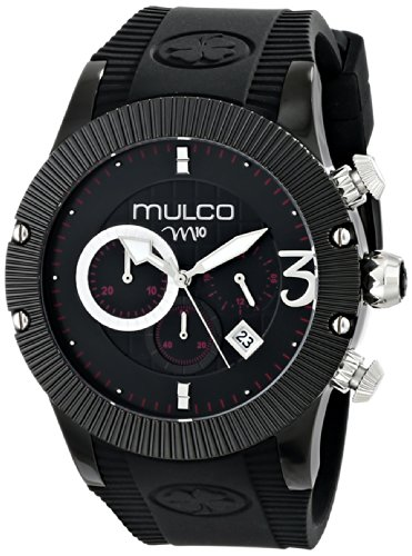 MULCO Unisex MW5-2828-025 Analog Display Japanese Quartz Black Montre