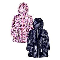 Girls Lightweight Printed Water Resistant Hooded Jacket