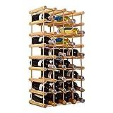 HOMECHO Mobile Portabottiglie Vino e Calici Bianco Cantinetta Scaffale Porta per 16 Bottiglie 94.5 x 35 x 81.5 cm