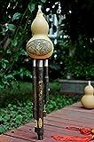 Anfang/Hulusi Natürliche Kürbisflasche Gourd robustem Bambus Flöte spielen...
