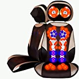 Siege De Massage Electrique Massant,Le Corps Entier Est éQuipé d'une Fonction De Chauffage Et Peut êTre ContrôLé SéParéMent. Le Nouveau Coussin De Massage Multifonctionnel