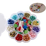 ROSENICE Beads Set Christmas Beads Bracelet Necklace Beads for Christmas Party Decor Strand with String and Santa Pendant