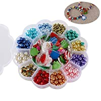 ROSENICE Fil de perles en Collier perles Bracelet BRICOLAGE Set avec chaîne et pendentif Santa divers coloris